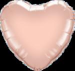 Mooideco - Rose goud folie hart ballon Qualatex