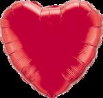 Mooideco - Rode folie hart ballon Qualatex