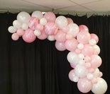 Mooideco - ballonslinger wit/roze
