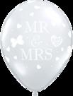 Mooideco - Doorzichtige Mr & Mrs ballonnen