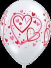 Mooideco - Rode en roze hartjes ballonnen