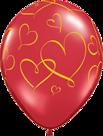Mooideco - romantische gouden hartjes ballon