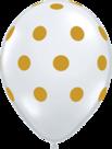 Mooideco - Witte ballon met gouden stippen