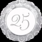 Mooideco - Zilver 25 folie ballon