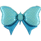 Mooideco - Blauwe strik folie ballon