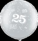 Mooideco - zilver met 25 bedrukte megaballon