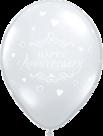 Mooideco - Happy anniversary doorzichtige ballonnen
