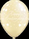 Mooideco - Happy anniversary ivoor ballonnen