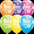 Mooideco - Mix van Happy birthday sparkles ballonnen