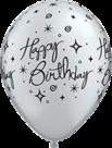 Mooideco - zilvere happy birthday ballonnen