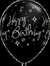 Mooideco - zwarte happy birthday ballonnen
