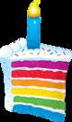Mooideco - regenboog taart folie ballon