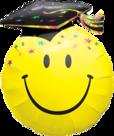 Mooideco - Geslaagd smiley folie ballon