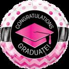 Mooideco - Congratulations geslaagd folie ballon roze