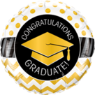 Mooideco - Congratulations geslaagd folie ballon goud