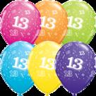 Mooideco - Verschillende kleuren bedrukte 13 ballonnen