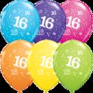 Mooideco - Verschillende kleuren bedrukte 16 ballonnen