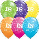 Mooideco - Verschillende kleuren bedrukte 18 ballonnen