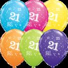 Mooideco - Verschillende kleuren bedrukte 21 ballonnen