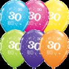 Mooideco - Verschillende kleuren bedrukte 30 ballonnen