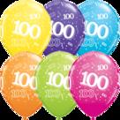Mooideco - Verschillende kleuren bedrukte 100 ballonnen