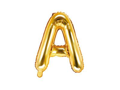 Letter A Ballon 35cm Goud