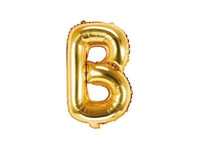 Letter B Ballon 35cm Goud