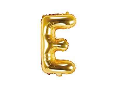Letter E Ballon 35cm Goud