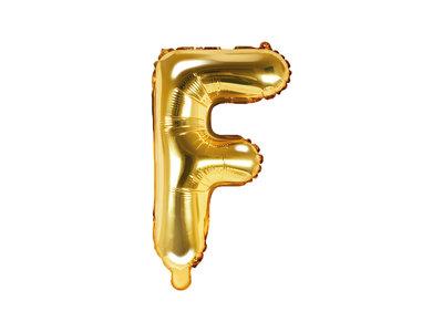 Letter F Ballon 35cm Goud