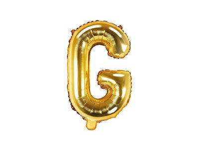 Letter G Ballon 35cm Goud
