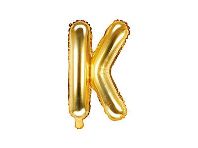 Letter K Ballon 35cm Goud