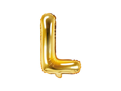 Letter L Ballon 35cm Goud