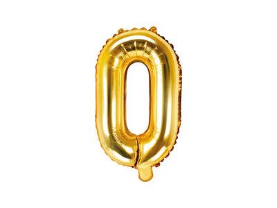 Letter O Ballon 35cm Goud