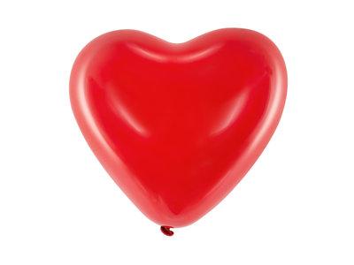 25 cm hartballon rood