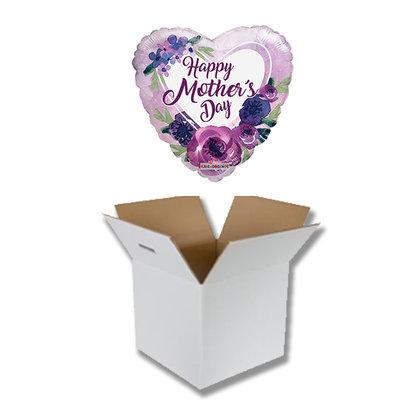 UITVERKOCHT Cadeauballon Happy Mothersday paars