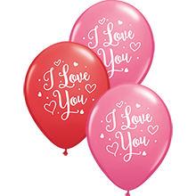 28 cm ballon Qualatex I love you hearts