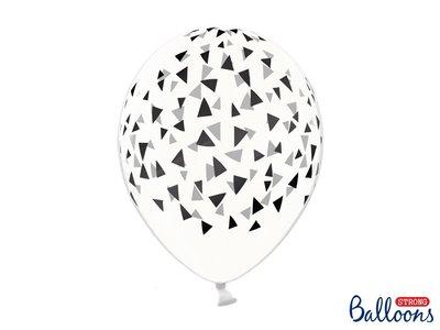 30 cm ballonnen Strong Balloons zwarte triangles