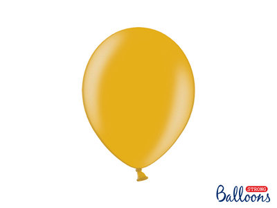 28 cm Ballonnen Strong Balloons Metallic Gold