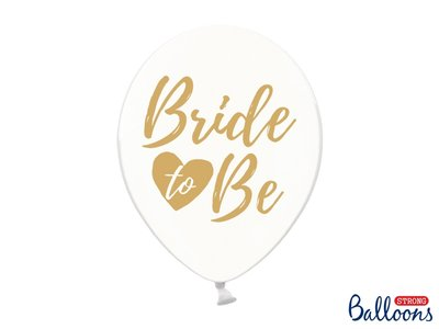 30 cm ballonnen Strong Balloons Bride To Be Gold