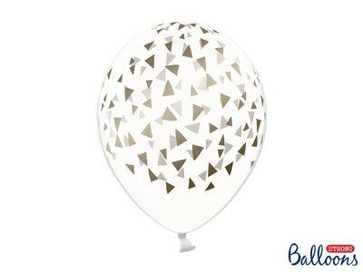 30 cm ballonnen Strong Balloons gouden driehoekjes