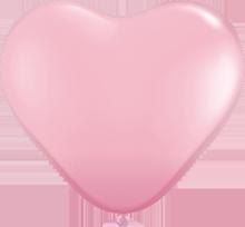 28 cm hartballon Qualatex Standard Pink