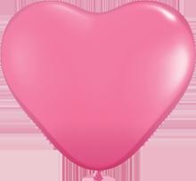 28 cm hartballon Qualatex Fashion Rose