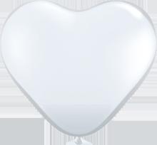 28 cm hartballon Qualatex Crystal Diamond Clear (transparant)
