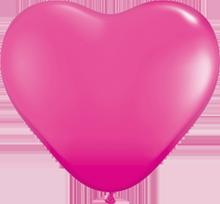 28 cm hartballon Qualatex Fashion Wild Berry