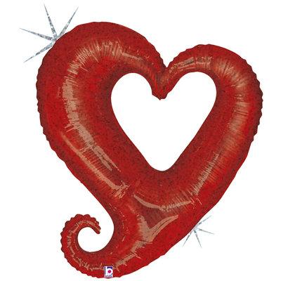 94 cm Folieballon hart Rood