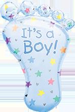 82 cm Anagram Folieballon Its a boy baby foot