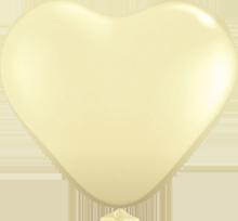 28 cm hartballon Qualatex Fashion Ivory Silk