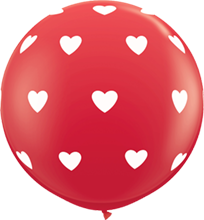 90 cm ballon Qualatex Big hearts