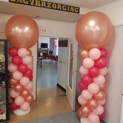Ballonpilaar set met handpomp