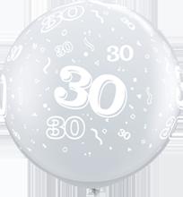 90 cm ballon Qualatex 30 crystal diamond clear